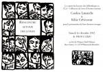 Invitation Rencontre et expo Kikie Crèvecoeur - Caroline Lamarche 01